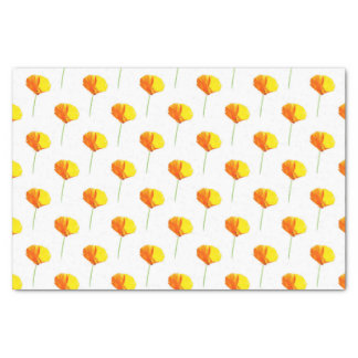 CA Poppy Pattern Tissue Paper