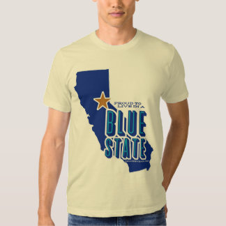 CA - Proud Blue State (for light apparel) T-shirts