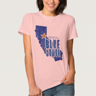 CA - Proud Blue State (vintage for light apparel) T Shirts