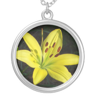 CA- Yellow Lily Flower Necklace