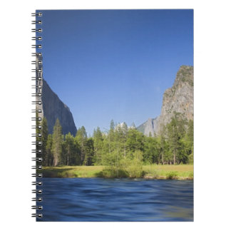 CA, Yosemite NP, Valley view with El Capitan, Spiral Notebooks