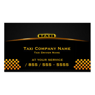 Cab Company Taxi Driver Business Card