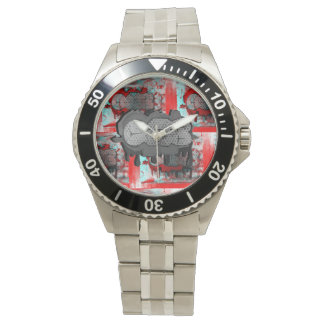 Cab Stamp Graphic Watch