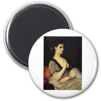 Cabanel Alexandre Portrait Of Countess E A Voronts 2 Inch Round Magnet
