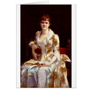Cabanel Alexandre Portrait Of Young Lady Card
