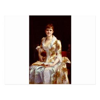 Cabanel Alexandre Portrait Of Young Lady Postcard