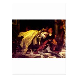 Cabanel Alexandre The Death of Francesca de Rimini Postcard
