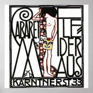 Cabaret in Vienna Vintage Poster Print