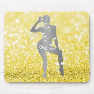 Cabaret Musical Dance  Glitter Sorrento Lemonade Mouse Pad