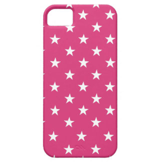 Cabaret Red, Fuchsia, White Stars. For iPhone 5/5S iPhone 5 Case