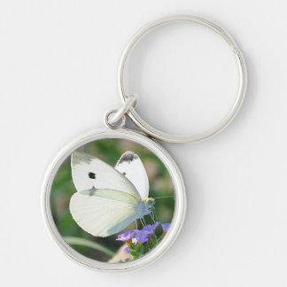 Cabbage Butterfly Keychain