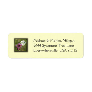 Cabbage Butterfly Return Address Labels