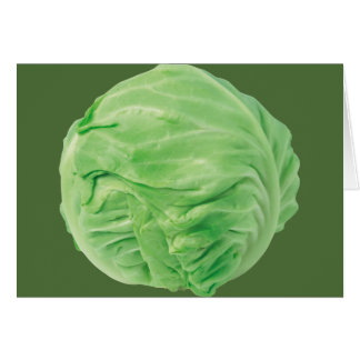 Cabbage Greeting, white envelopes included Greeting Card