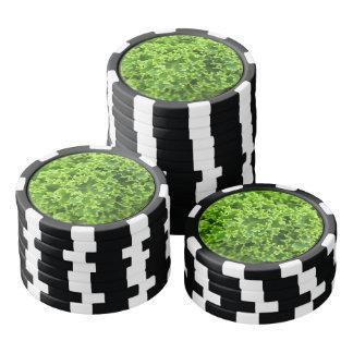 Cabbage pattern poker chips