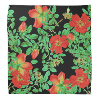 Cabbage Rose Flowers Bandana