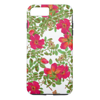 Cabbage Rose Flowers Floral Art iPhone 7 Case