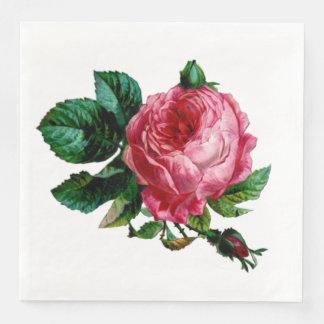 Cabbage Rose Paper Napkins