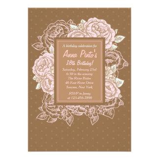 Cabbage Roses Invitation