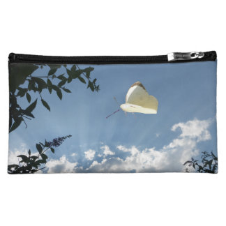 Cabbage White Butterfly Cosmetic Bag