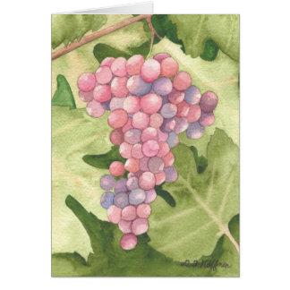 Cabernet Grapes card