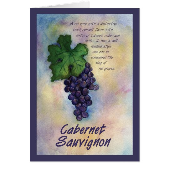 Cabernet Sauvignon Wine Grape Greeting Card