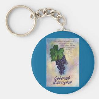 Cabernet Sauvignon Wine Keychain