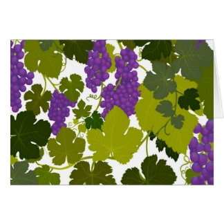 Cabernet Vineyard Grapes Greeting Card