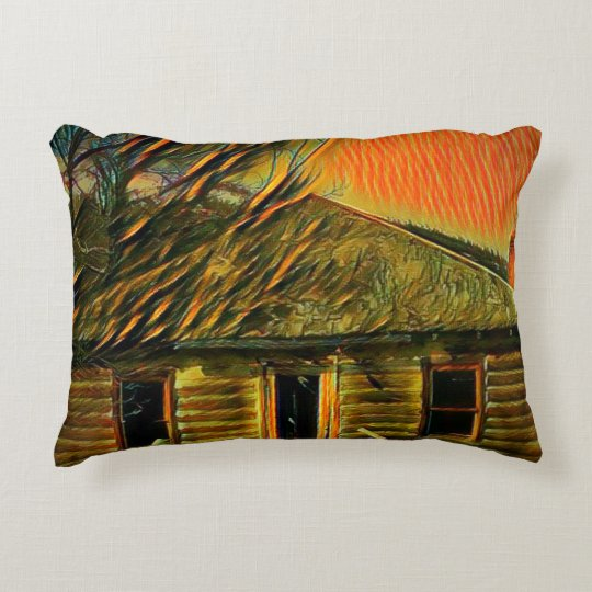 Cabin Artwork Pillow