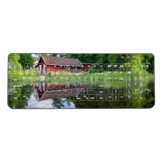 Cabin Boathouse Dream Pond Reeds Wireless Keyboard