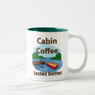 Cabin Coffee Tastes Better Two-Tone Coffee Mug