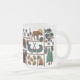 Cabin Fever - Longing for the Lodge 10 Oz Frosted Glass Coffee Mug