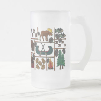 Cabin Fever - Longing for the Lodge 16 Oz Frosted Glass Beer Mug