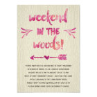 Cabin Fever   Rustic Bachelorette Party Card