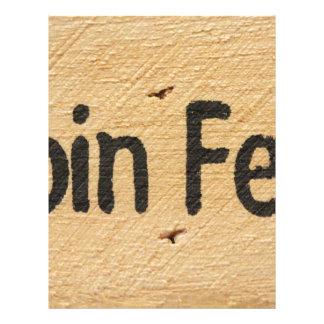 Cabin Fever Sign Letterhead
