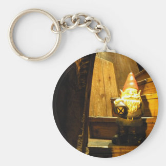 Cabin Gnome Basic Round Button Keychain
