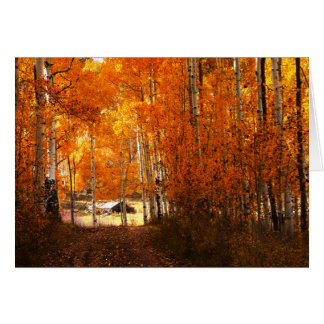 Cabin In the Aspen Kolob Utah Blank Greeting Card