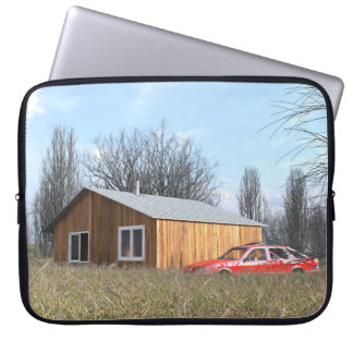 Cabin in the Field Laptop Sleeve