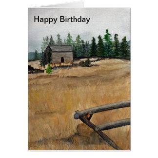 Cabin in the Meadow Card