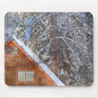 Cabin in the Snow Mouse Pad