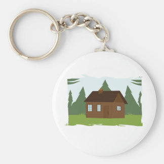 Cabin in the Trees Keychain