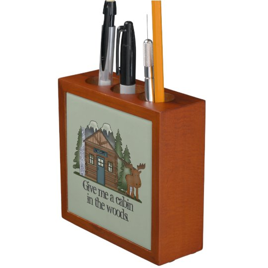 Cabin in the Woods Desk Organizer