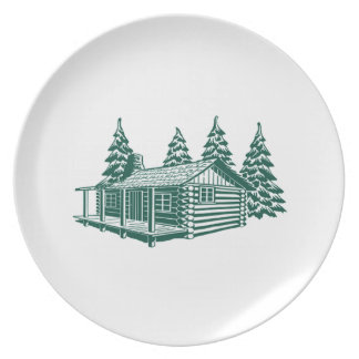 Cabin in the Woods... Dinner Plates