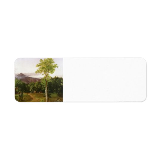 Cabin in the Woods, New Hampshire by Thomas Cole Return Address Label