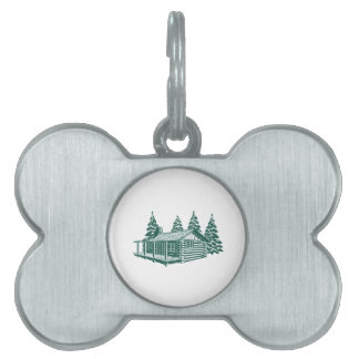 Cabin in the Woods... Pet Name Tags
