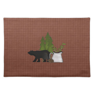 Cabin in the woods placemat