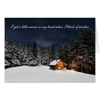 Cabin in the woods - Season's Greetings Card
