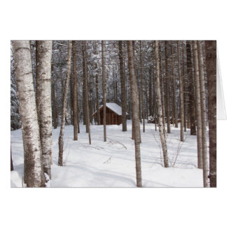 Cabin in winter notecard