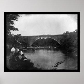 Cabin John Bridge, MD 1865 Poster
