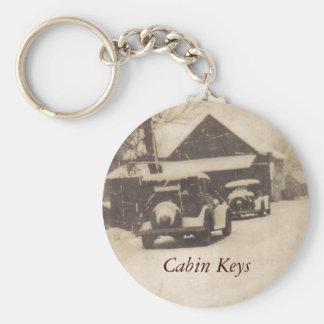 Cabin Keys Basic Round Button Keychain