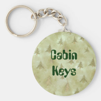 Cabin Keys in the Trees Keychain